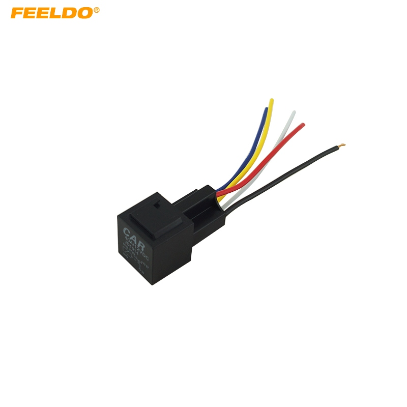 Feeldo 10pcs 12v 40a Car Auto 5 Wire Terminal Relay Socket Harness Rhaliexpress: 5 Wire Wiring Harness At Gmaili.net