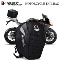 GHOST RACING The Motorcycle Tail Bags Back Seat Bags Kit Travel Bag Motorbike Scooter Sport Luggage Rear Seat Rider Bag Pack