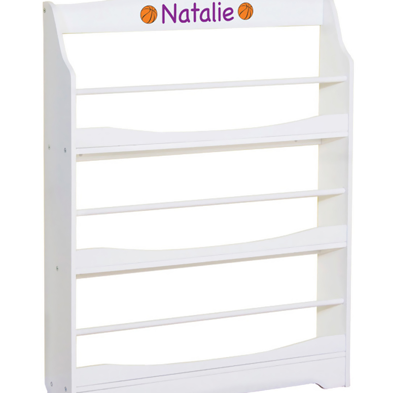 GuideCraft Expressions Bookrack White guidecraft classic white storage bench