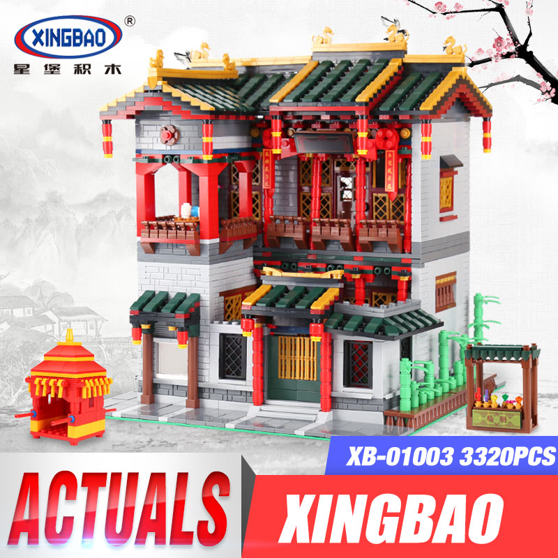 XingBao 01003 MOC 3320Pcs Series The Chinese Traditional Architecture Set Children Educational Building Blocks Bricks Lovely the character analysis of the chinese traditional architecture by liang sicheng handai building