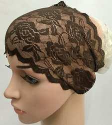 Женский модный кружевной мусульманский хиджаб головной платок в цветочек шапочки под хиджаб обертывания женский исламский шарф