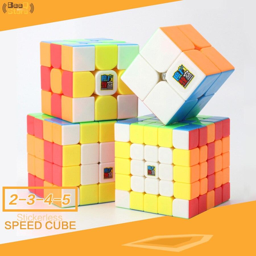 Mofangjiaoshi 3pcs 4pcs/Set  2x2 3x3 4x4 5x5 Magic Cube Speed Puzzle Gift Box Stickerless MF2 MF3 MF3rs MF4 MF5 Educational Toy
