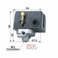 Free Shipping LF10 4H 4 hole 6~8KG Air Compressor pressure control switch Air Compressor switch Automatic control