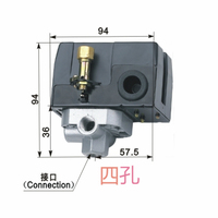 Free Shipping LF10 4H 4 hole 6~8KG Air Compressor pressure control switch Air Compressor switch Automatic control