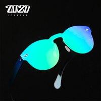 20 20 Brand Designer Sunglasses Women UV400 Retro Female Round Rimless Glasses Travel Men Eyewear Gafas