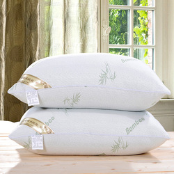 1Pc 48x74cm Bamboo Fiber Pillow Health Care Comfortable Bed Pillows for Sleep Support Neck Fatigue Relief 0.9kg Elastic Pillow