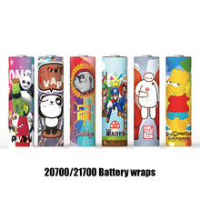A-touch 20700/21700 Battery Wrap Sticker Protective Skin PVC Sleeve Wrap for Electronic Cigarette Vapor MOD Battery(China)