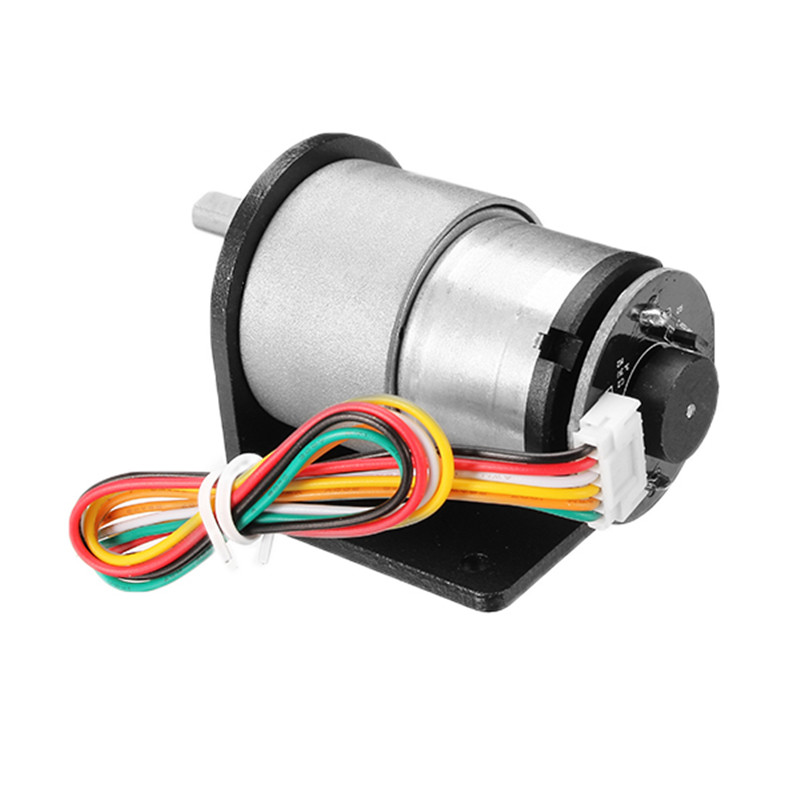12V 320rpm//12V 107rpm//6V 160rpm DC Gear Motor Encoder Motor with Mounting Bracke