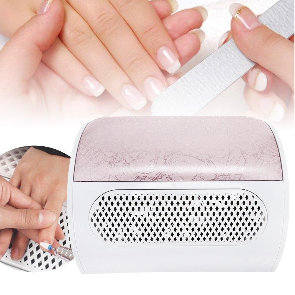 Salon Nail Collecteur de Poussière Machine Aspiration Outil Aspirateur Forte Ventilateur à La Main reste Faible bruit 3 Forte fans Manucure nail Outils