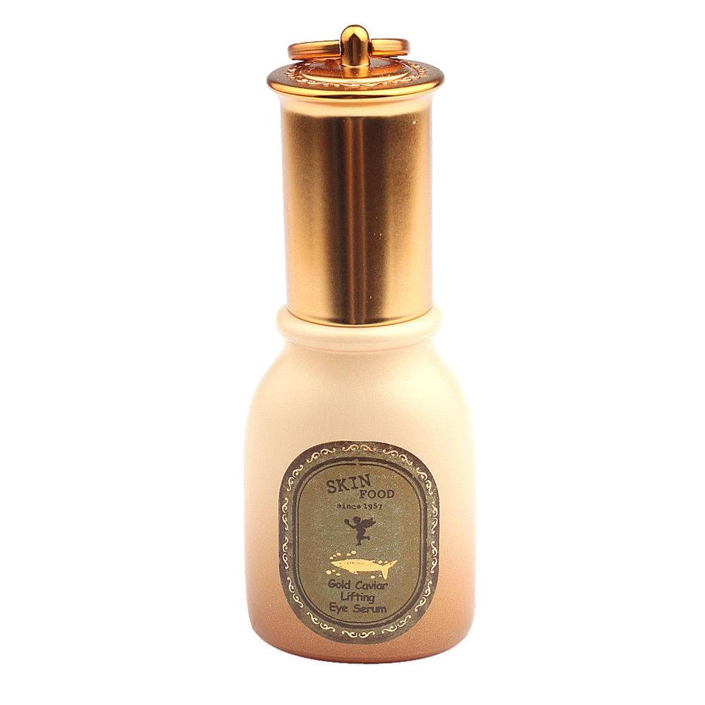 korea cosmetic SKINFOOD Gold Caviar Serum 45ml Facial Serum Anti Wrinkle Whitening Moisturizing Face Essence Cream  benton fermentation essence 100ml wrinkle improvement korea cosmetic