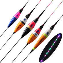 LED Luminous Fishing Float Light Electric Tackle Composite Nano Buoy Crucian Carp Equipment