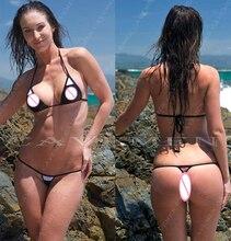 Small and exquisite At three Bikini set Black white * 3374 Ladies Thongs  Underwear Panties Swimsuit Free Shipping