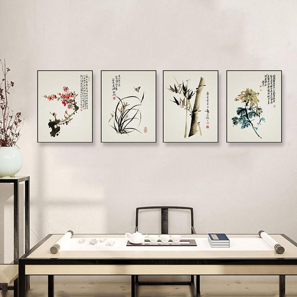 moderna de la lona de arte a impresin cartel de la pared de la flor de