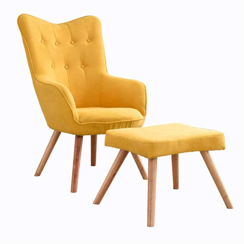 Pleasant Us 144 44 21 Off Nordic Yellow Single Small Sofa Balcony Lounge Chair Girls Home Bedroom Lazy Sofa Computer Back Chair In Living Room Sofas From Camellatalisay Diy Chair Ideas Camellatalisaycom