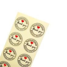 100 шт/лот прозрачные винтажные наклейки ручной работы с любовью