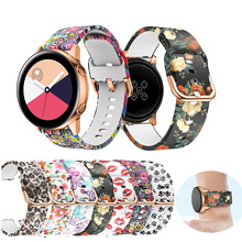 20mm Watch Band for Samsung Galaxy Watch Active Band Galaxy 42mm Strap S2 gear Soft silicone Sport Smart Wristbands Watch strap