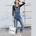Ladies Denim Rompers Jeans Pants Loose Straight Jeans Jumpsuit For Women Bib Jeans Denim Jumpsuit Fashion