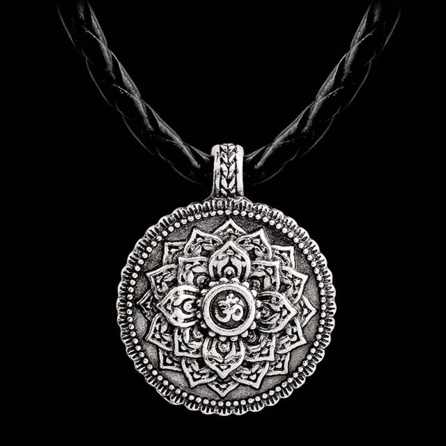 Ethnic Ancient silver lotus flower buddha necklace Yoga inspired meaningful  jewelry Lotus jewelry jewelry Gift for women #277427