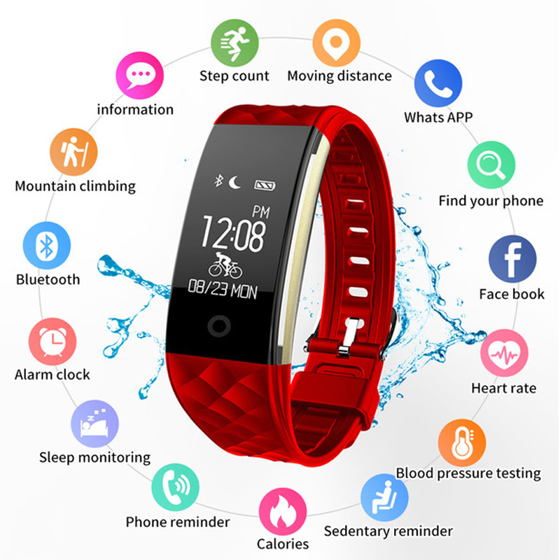 Luxury Bluetooth Smart Watches For Women Smart bracelet For Android IOS iPhone Men Heart Tate Monitor  Sleep Tracker SmartwristLuxury Bluetooth Smart Watches For Women Smart bracelet For Android IOS iPhone Men Heart Tate Monitor  Sleep Tracker Smartwrist