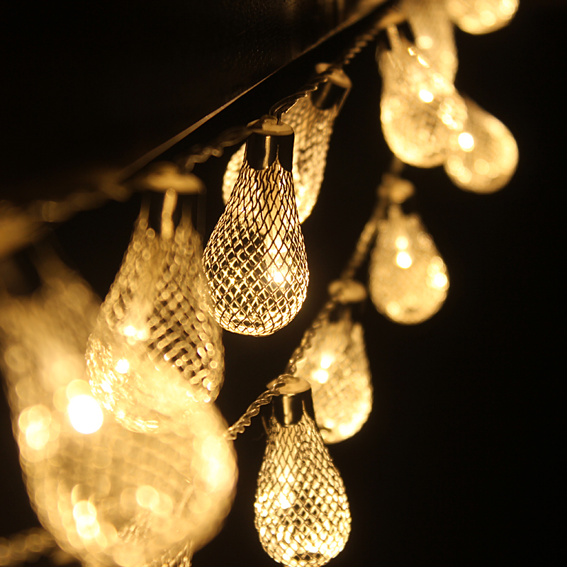 2M 20LED String Lights Bateri aa Lampu Krismas Pernikahan Fairy - Pencahayaan perayaan - Foto 3