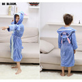 Easter Gift Spring Winter Children's Bathrobe Flannel Stitch Robe For Boy Girl Kids Cartoon Thick Long Sleeve Pajamas Homewear