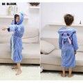 Presente de páscoa Primavera Inverno Ponto Robe de Flanela Roupão de Banho das Crianças Para O Menino Menina Miúdos Dos Desenhos Animados Grossas Pijamas de Manga Longa Homewear
