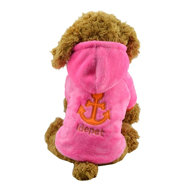 Idepet Puppy Dog Clothes Warm Fleece Pet Puppy Clothes Outfit For Dogs Winter Hoodies Coat Small Chihuahua Pet Clothing 19S2Q