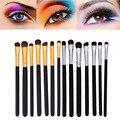 7 unids Maquillaje de Ojos Delineador de ojos Sombra de Ojos Cepillo de Pelo de Caballo Cepillo de Cejas Cepillos Kit de Cosméticos de Ojos Pinceles de Maquillaje Herramientas