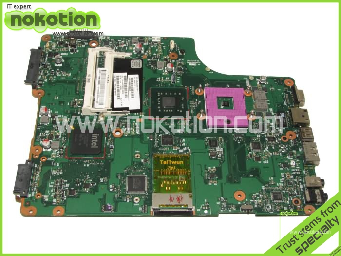NOKOTION Laptop mainboard For Toshiba Satellite A505 motherboard Intel GM45 ddr2 V000198010 Socket 478 sps v000198120 for toshiba satellite a500 a505 motherboard intel gm45 ddr2 6050a2323101 mb a01