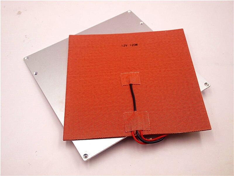 Imprimante 3D V2 plaque de construction de lit chauffant en aluminium 12 V/24 200 W revêtement en silicone avec Kit de thermistance pour Reprap Prusa