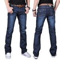 2016 New Fashion Elastic Men Jeans Slim Fit Straight Denim Pants Jeans Plus Size 28 38