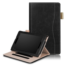 For Amazon Fire 7 (2015/2017) Tablet Ultra Slim Fit PU Leather Folding Stand Case Cover with Auto Wake/Sleep