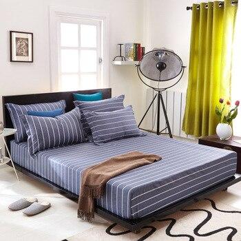 De impresión de algodón ropa de cama individual cama doble funda protectora de alta elasticidad todo incluido cama sábanas cuadros de cubierta de cama