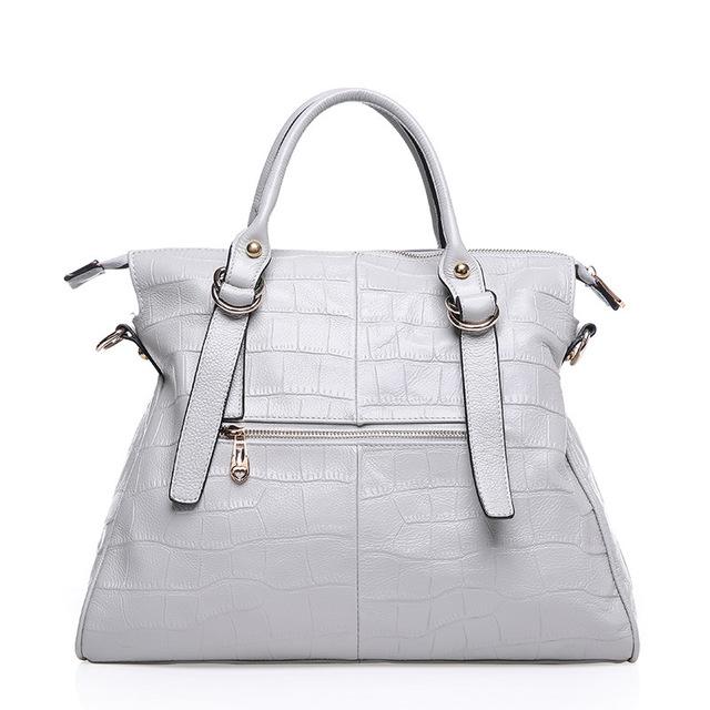 Women 100% Genuine Leather Casual Fashion Handbag Alligator High Quality Shoulder Messenger Bag Ladies Soft Luxury Tote Satchel