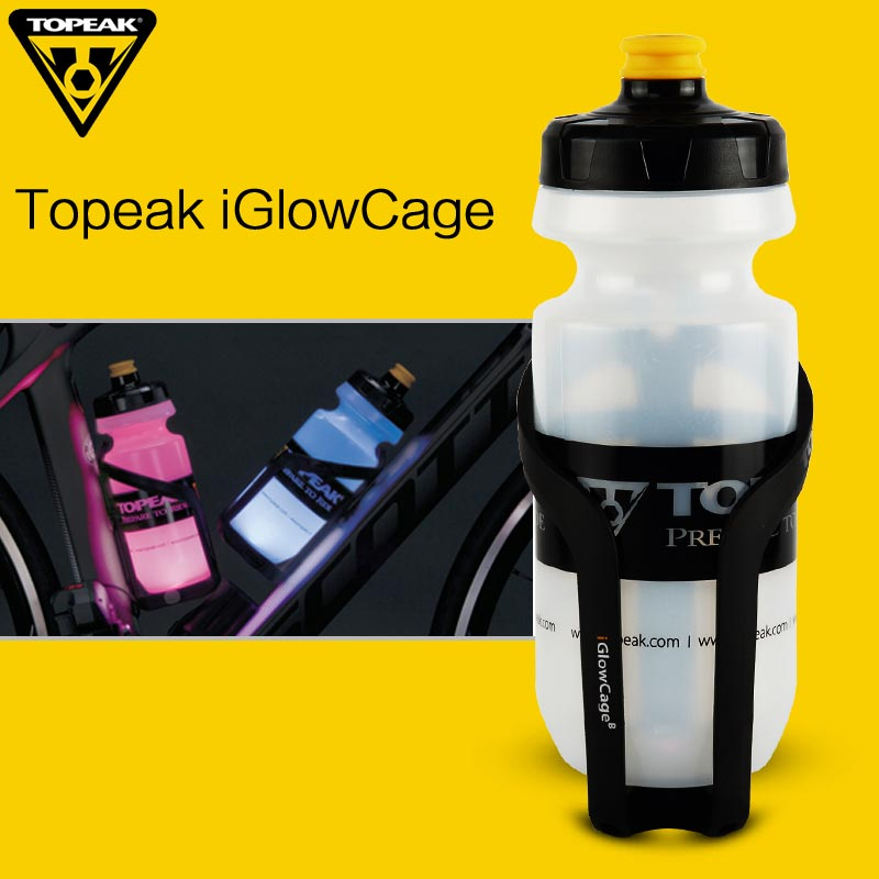TOPEAK Water Bottle Holder iGlow Bicycle Water Bottle Cage for Road Bike MTB Night Cycling High Visibility Bicycle Holder