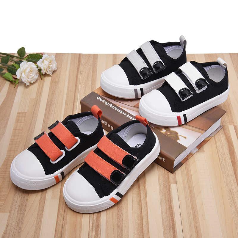 Kleinkind Beiläufige laufende Schuhe kleine kinder Jungen Mädchen leinwand schwarz Kinder Turnschuhe weiße laufsohle rot beige grau größe 20- 25