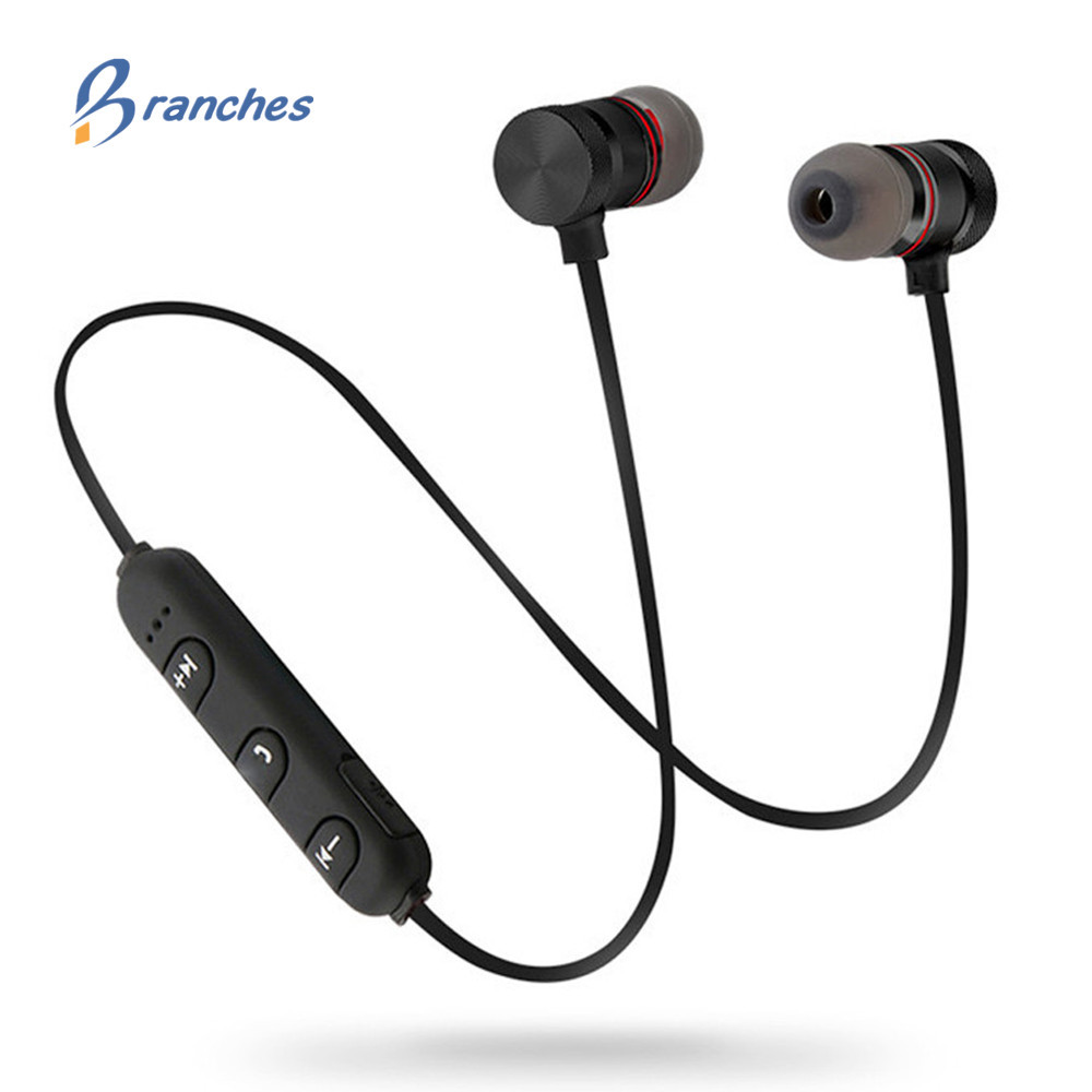 Branches ES02 In-ear Bluetooth Earbuds Wireless Earphone Sport Music Headset For Apple iPhone Xiaomi Android Magnetic Head phone Головная гарнитура