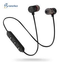 סניפים ES02 ב אוזן Bluetooth אוזניות אלחוטי אוזניות ספורט מוסיקה אוזניות עבור Apple iPhone Xiaomi אנדרואיד מגנטי ראש טלפון