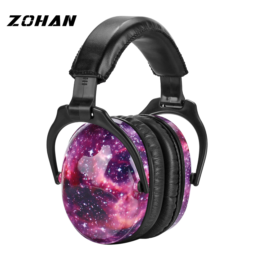 ZOHAN Child Hearing Protector NRR 22DB Anti-noise Soft Earmuffs For Kids Noise Reduction Ear Protection Earmuff Sleeping adjustable anti noise head earmuffs noise insulation ear protector nrr 30db for work study shooting woodwork hearing protection