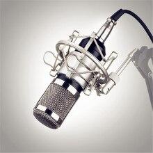 KTV profesional BM800 BM-800 Micrófono de Condensador Cardioide de Audio Profesional Estudio de Grabación Vocal Micrófono KTV Karaoke + Choque de Metal de Montaje