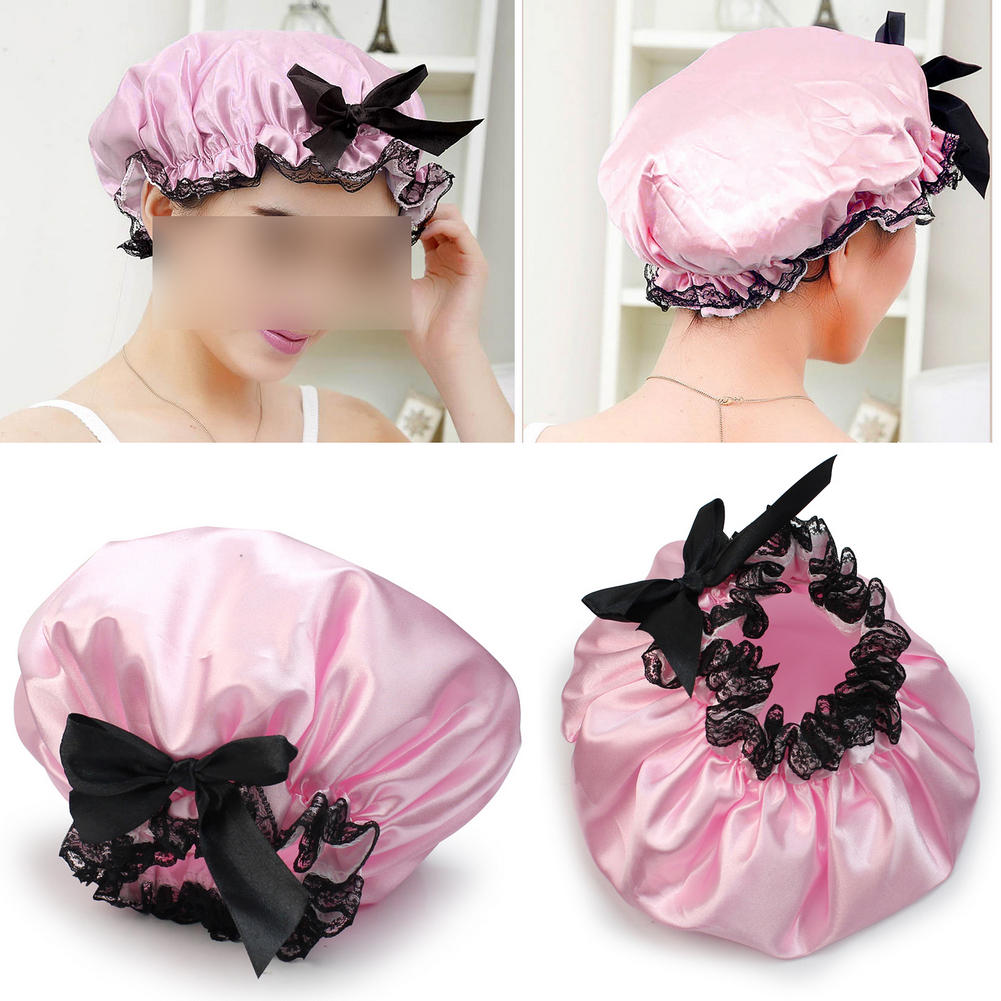 Bath & Shower Waterproof Women Elastic Lace Shower Bouffant Hair Bath Cap Hat Spa Protect Fm88 Sale Price Bath