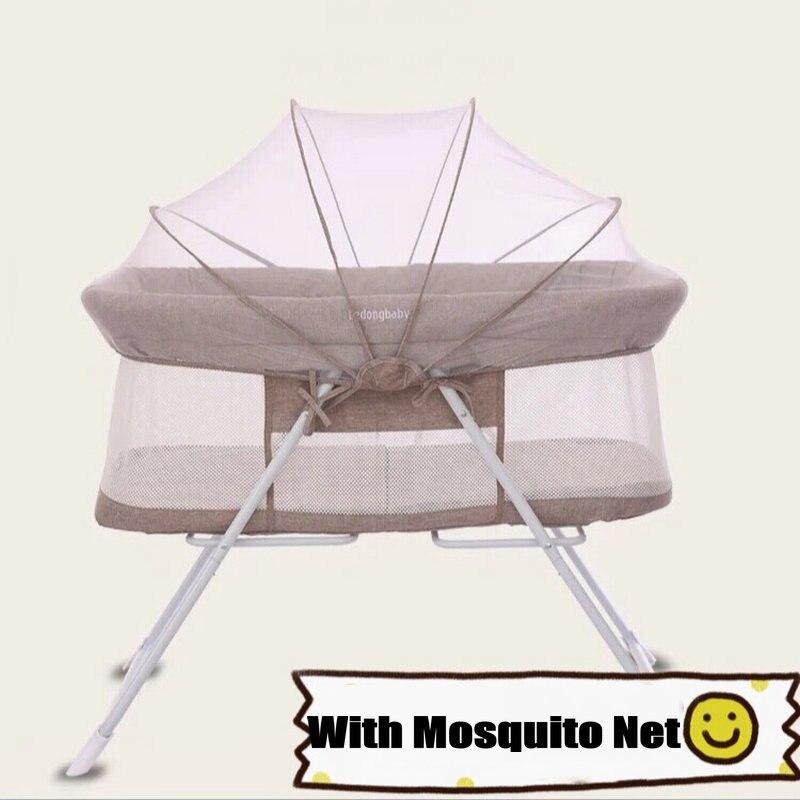 Lit de bébé Portable nouveau-né avec moustiquaire, peut changer pour bébé berceau à bascule, lit de voyage Simple, lit de bébé léger 4.2 KG