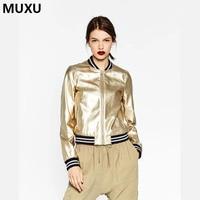 MUXUแนวโน้มแฟชั่นฤดูใบไม้ร่วงใหม่แขนยาวเสื้อผู้หญิงแฟชั่นสุภาพสตรี