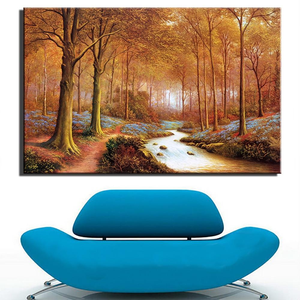 ᐃModerne Sans Cadre Peinture € L huile Impression Art de Paysage