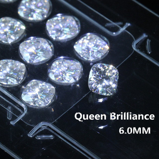 Us 79 0 Loose Moissanite Stones 1 1 Carats 6mm Gh Color Vvs2 High Quality Test Positive Cushion Cut Lab Grown Diamond Free Shipping In Loose