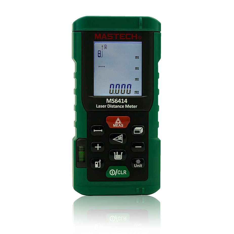 MS6414 40M Handheld Laser rangefinder high percision laser Distance Meter/Range Finder Area Volume Tester ms6450 ultrasonic range finder laser distance meter length area volume measurer