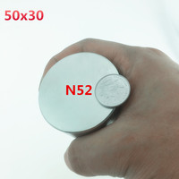 1pcs Magnet 50x30 Mm N52 Neodymium Magnet 50 30 Mm Round Super Strong Magnets 50mmx30mm Rare