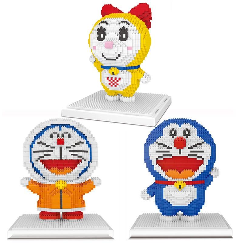 Alen Toys Hobbies Building Blocks Nanoblock Mini Blocks Kawaii Doraemon Anime Cartoon Micro Building Bricks Toys For Kids.