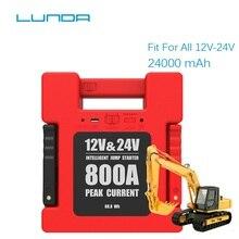 LUNDA 800A ピーク 12/24 12v 車ジャンプスターターバッテリーブースター電源パック (すべてのガスまたは最大 6L ディーゼルエンジン)