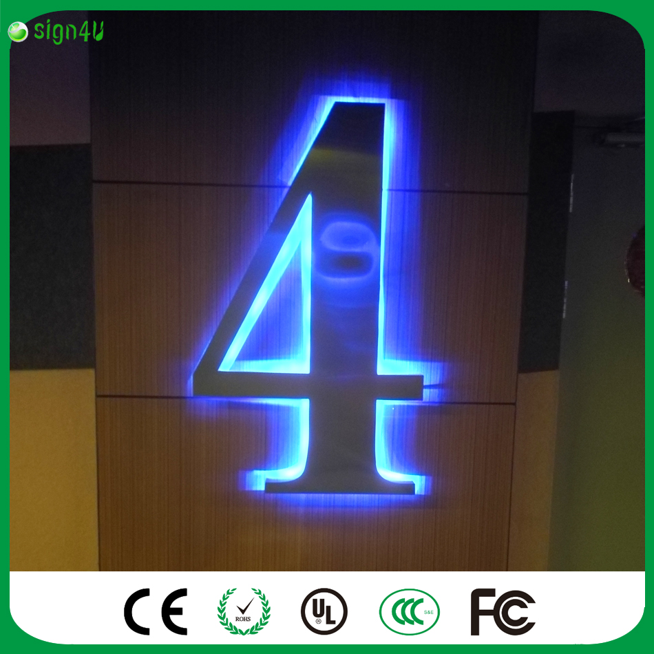 ФОТО painted Stainless steel Backlit signage letters LED 3D illuminated Channel letters signs for club